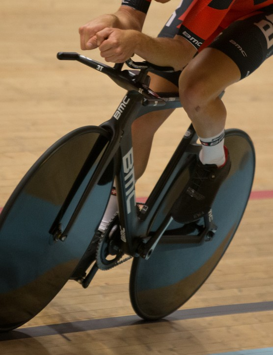 The TrackMachine TR01 was designed to overcome the head-on drag of velodrome environments