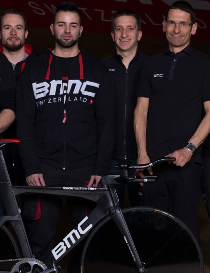 The BMC team, rightly proud of their creation