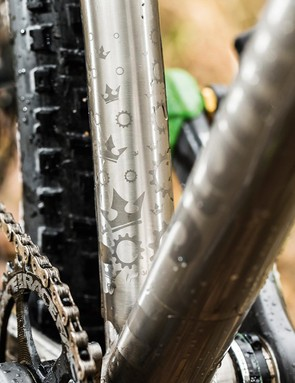 A custom drawn seat tube gives the frame the ride feel Dan Stanton was looking for