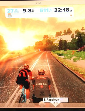 There's always a few hundred if not a thousand-plus people riding in Zwift, whatever the time