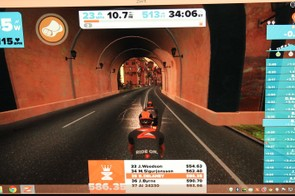 Points are tallied as you ride, moving you up the real-time leaderboard