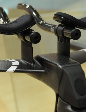 The finished bar and stem setup aboard one of Dennis' two bikes for his attempt