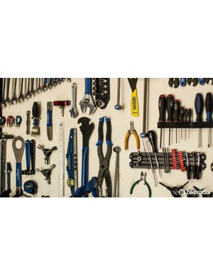 42881866ecb The board behind my workbench is kept for only the most commonly used tools  — which