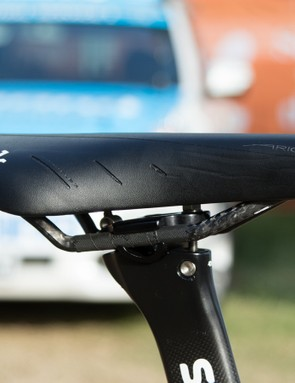 Just like Ryder Hesjedal, Thomas uses a heavily padded version of the Fizik Arione