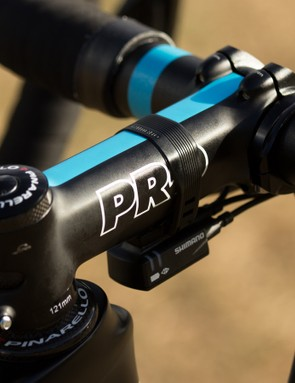 At 121mm and with a four-bolt face plate, this PRO stem is certainly team-only