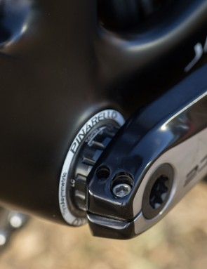 The Pinarello Dogma F8 is one of the pro-level bikes still using a threaded bottom bracket shell