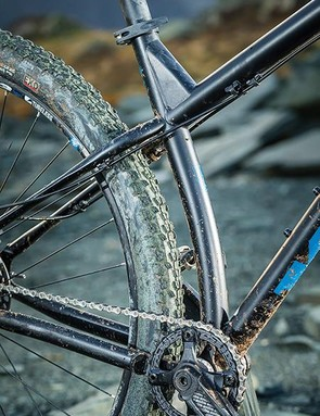 The kinked seat tube means short stays and so a nible experience going downhill –but your weight can get shifted further back than you'd like on the ascents