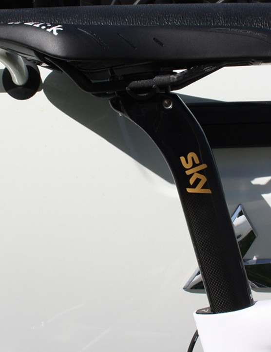 The saddle height remains the same for Wiggins' time trial bike in Qatar
