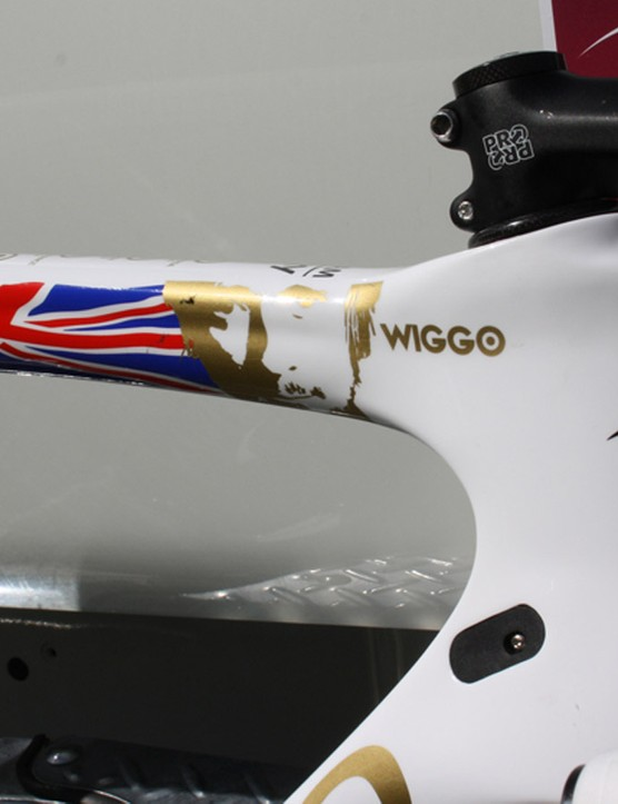 Wiggins' road bike has been adapted for the 10.9km test in Qatar