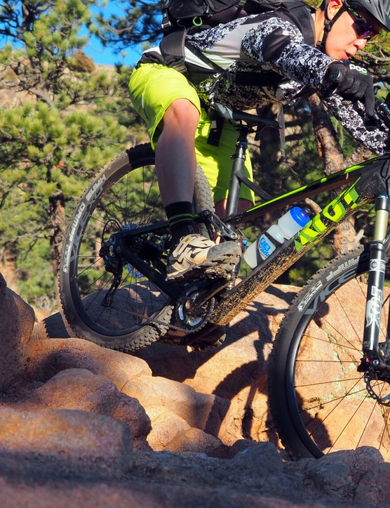 The Ghost Riot 7 LC is billed as an all-mountain machine but it feels more like a pure XC machine with outstanding pedaling efficiency and quick handling that turns nervous when things get technical or fast