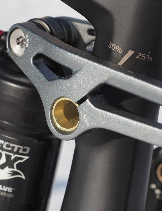 Rigidly clamping the ends of the pivot axle in this fashion reduces unwanted twist relative to a conventional threaded axle and endcaps