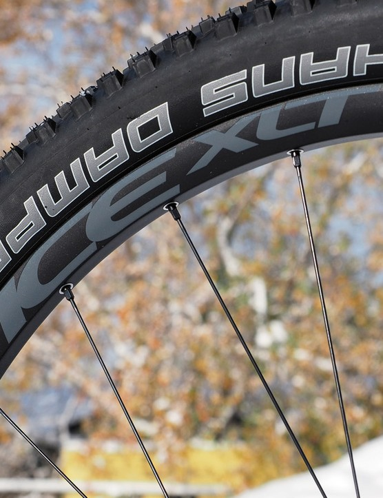 The Easton Vice XLT wheels feature a true UST profile for easy tubeless conversions - and with no tape required