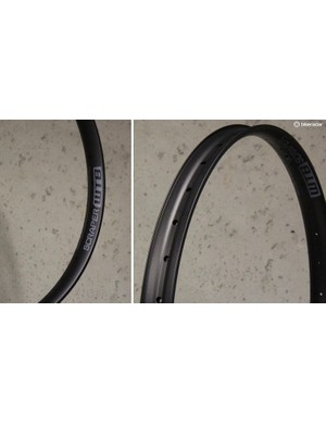 WTB's Scraper rim is designed for 27.5+ tires and has an internal width of 45mm