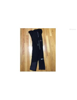 Gore Alp-X 2.0 Windstopper Soft Shell Pants have scuff guards on the inner legs to prevent damage from the chain