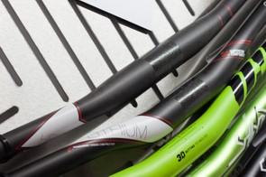 Top is Superstar's new Helium carbon bar. Coming in at a claimed 174g, the 750mm flat bar retails at only £70