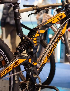 A built-up example of Empire's new VX8 downhill rig