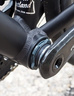 Finish work on the PF30 bottom bracket is just as it should be. The dimensions are tight and precise, and the cups press in securely and evenly