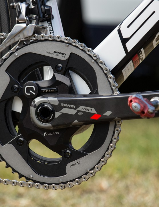 SRAM-owned Quarq provides the power data in this SRAM Red Quarq crankset