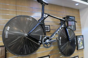 Matthias Brandle's Scott Plasma was, until recently, the hour record-holding bike