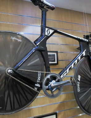 Matthias Brandle's Scott Plasma was, until recently, the hour record-holding bike