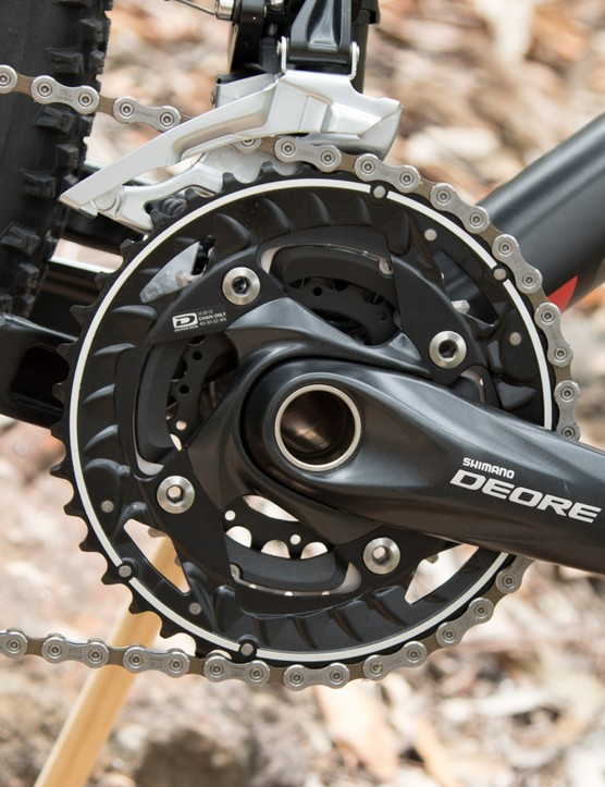 Shimano Deore cranks are solid, durable and easily serviced
