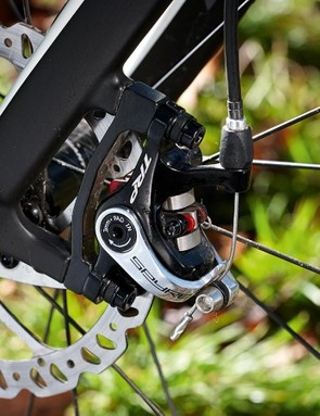 TRP's Spyre brakes are top cable-operated stoppers –though they inevitably come up short against hydraulic competition