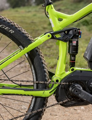 The suspension kinematics is totally different to their purely pedal-powered offerings, with less low-speed compression for a smoother ride