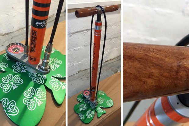 Shamrock Cycles created this one-off Silca SuperPista Ultimate floor pump to raffle off for charity