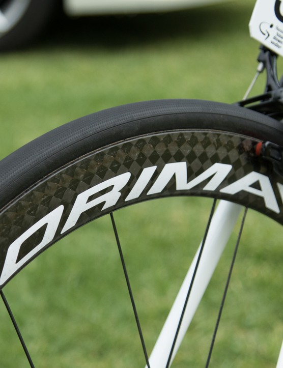 Astana is the only team in the WorldTour to be rolling on Corima wheels