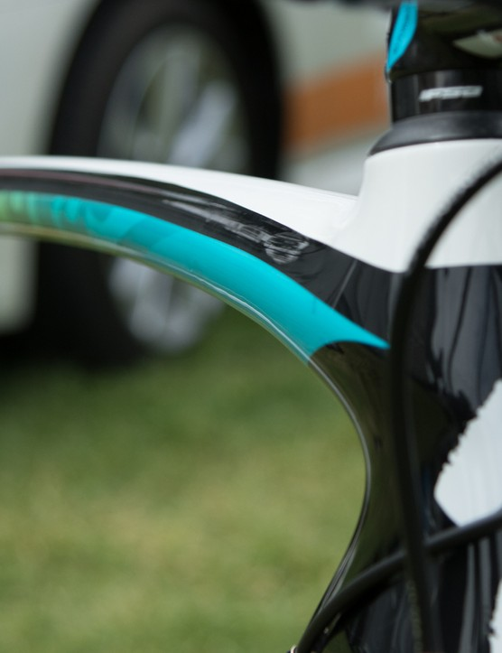 The new Specialized S-Works Tarmac has been designed as an all-round road bike, yet borrows aero design cues from the Venge