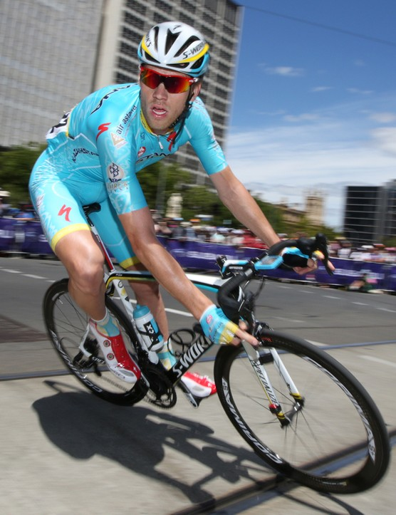Lars Boom at the 2015 Tour Down Under on his debut with Astana