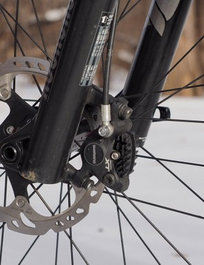 Standard production Turner King Khans will come with Shimano SLX disc brakes instead of the Deore XT ones on our test sample. The SLX brakes will be heavier but performance should be essentially identical