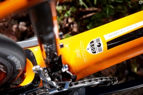 Stiffness for transferring pedalling force is maintained by the oversized BB90 bottom bracket