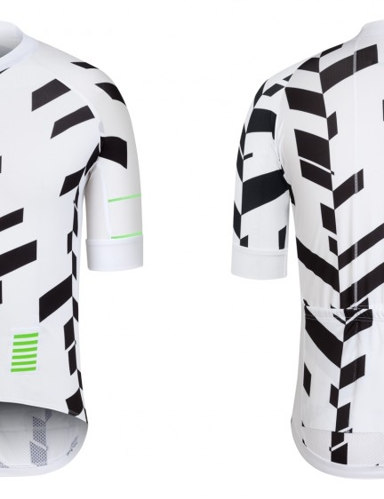 The jersey is also available in black on white with green detailing