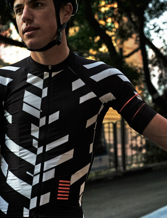 Rapha's Data Print jersey shows an athlete's grand tour journey