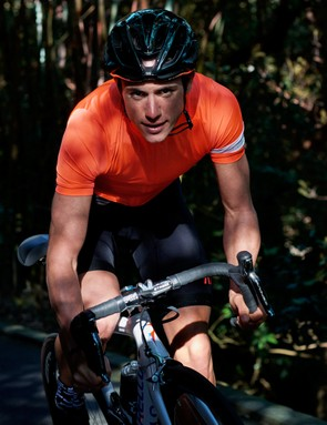 Kennaugh putting the fiery coral Pro Team jersey through its paces