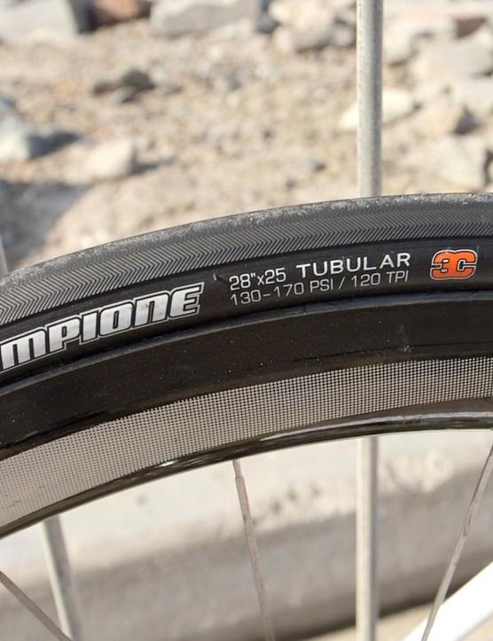 Brajkovic uses Maxxis Champione Tubular tyres