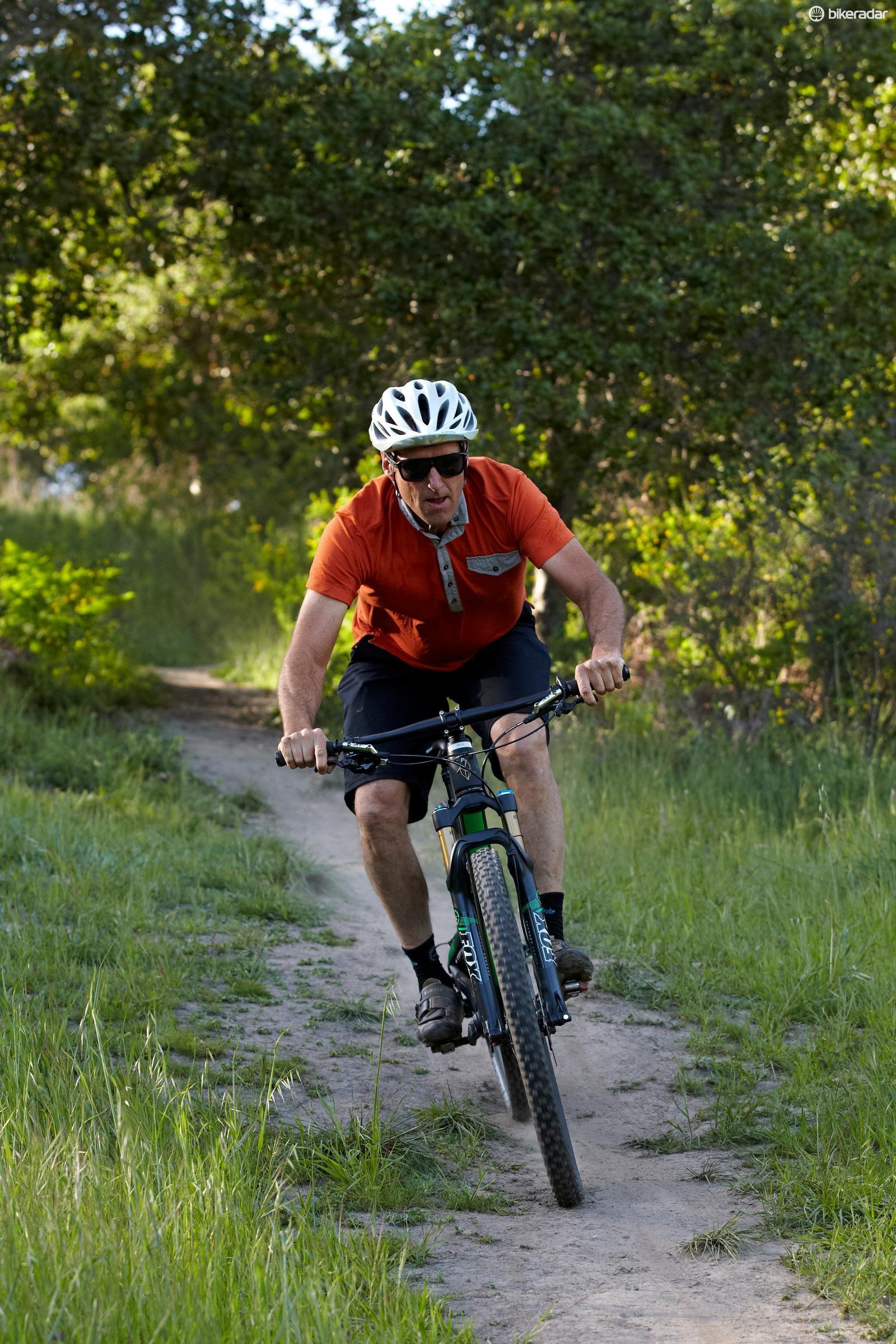 Nicol shows us around his local trails