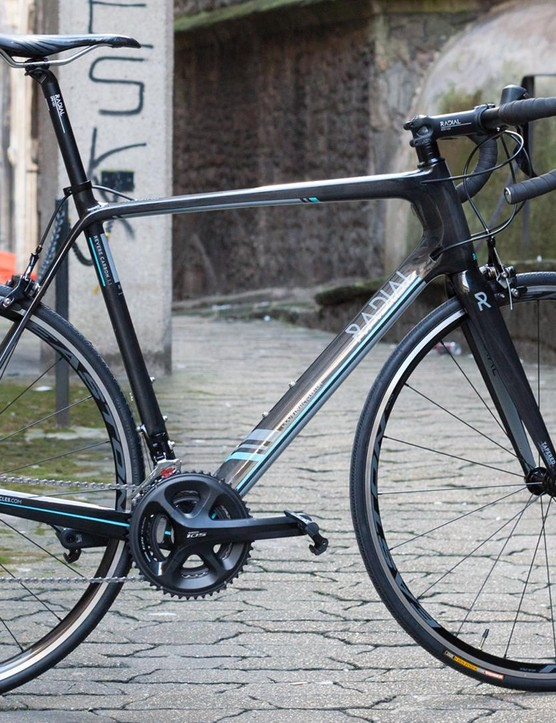 The slender seatstays of the Revere Carbon make it a distinctive looker