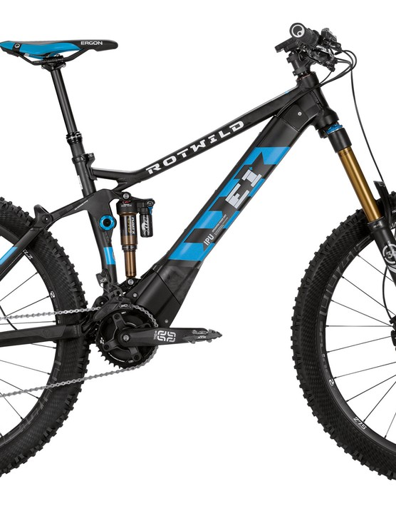 The Rotwild R.E1+FS27.5 is claimed to be the perfect enduro bike, with an electric motor to assist climbing