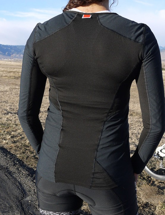 The Gore Windstopper front is complemented by mesh on the back