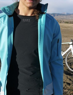The windproof front means you can unzip your jacket or jersey without freezing your chest