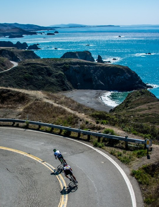 Levi's GranFondo takes riders along the Pacific