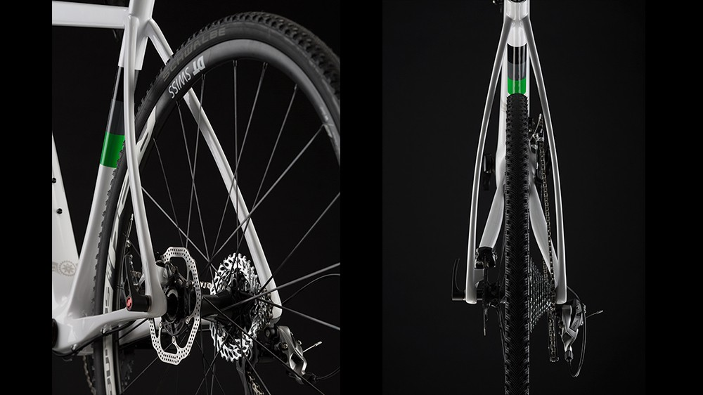 The Warbird's seat- and chainstays are designed for maximum vertical compliance to take the edge off rough gravel roads