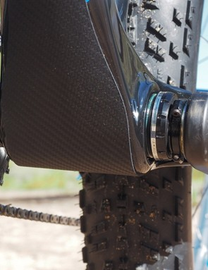 Borealis fits a full-width protector to the down tube. The threaded bottom bracket shell is a welcome addition, too