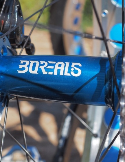 Complete bikes come equipped with Borealis house-brand hubs that, like the rims, we found pretty but flawed. They're relatively slow to engage and the end caps are loosely held in place, making for occasionally frustrating setups trailside