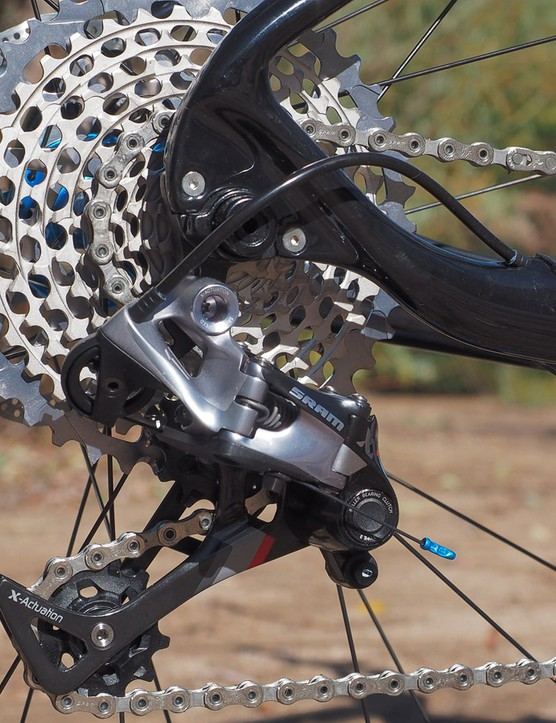 As we've experienced on standard trail bikes, performance of the SRAM XX1 drivetrain was outstanding
