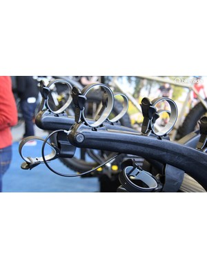 The Superbones can lock bikes to the rack