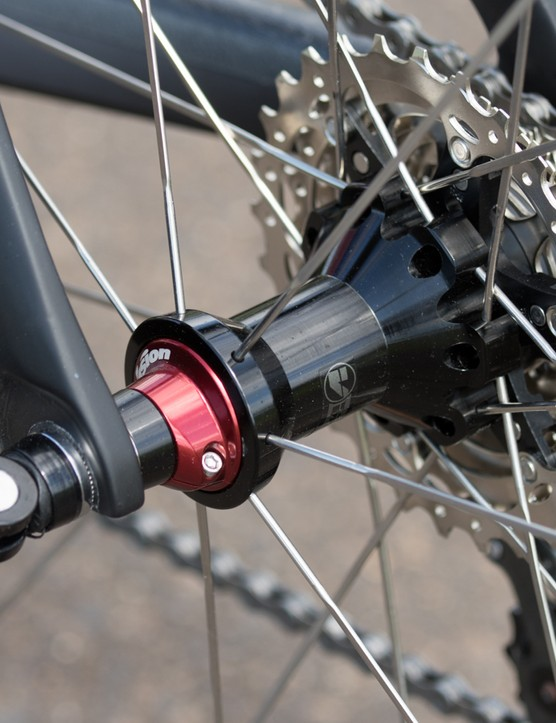 The Vision Trimax wheels feature adjustable sealed bearings and bladed stainless spokes
