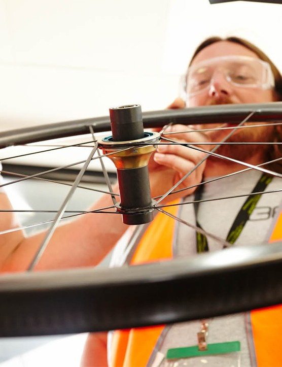Still in the prototype phase, 36T's carbon clinchers are claimed to weight less than 1kg